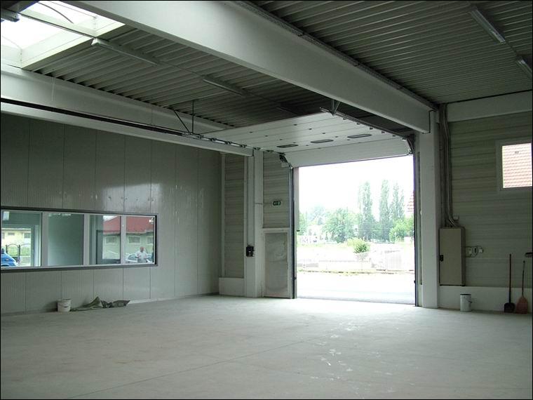 Az ECOTOR ipari kapuk nem csökkentik a szabad nyílásmértet